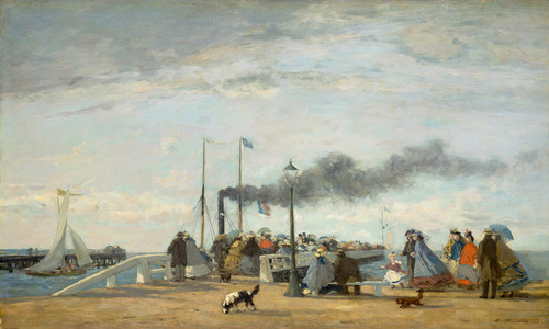 Art Prints of Jetty and Wharf at Trouville by Eugene Boudin