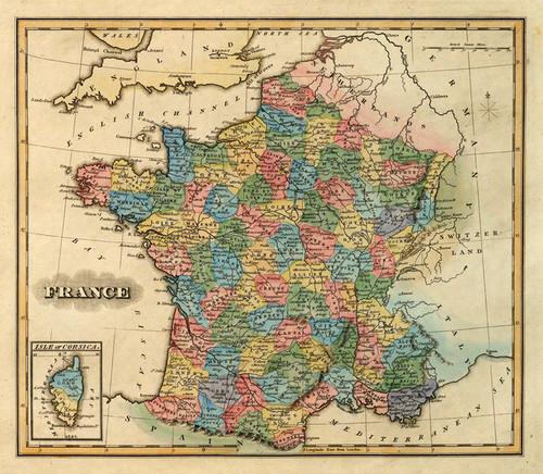 Art Prints of France, 1823 (4584023) by Fielding Lucas Jr.