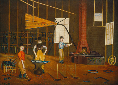 Art Prints of Blacksmith Shop by Francis Beckett