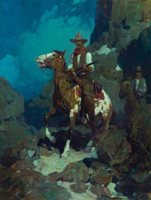 Art Prints of Night Herders by Frank Tenney Johnson