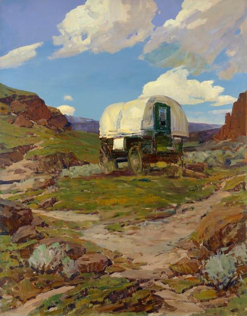 Art Prints of Sheep Wagon by Frank Tenney Johnson