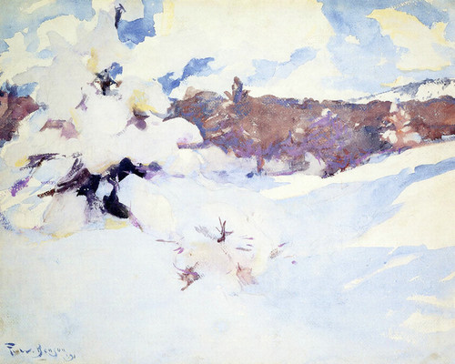 Art Prints of Shadows on Snow by Frank Weston Benson