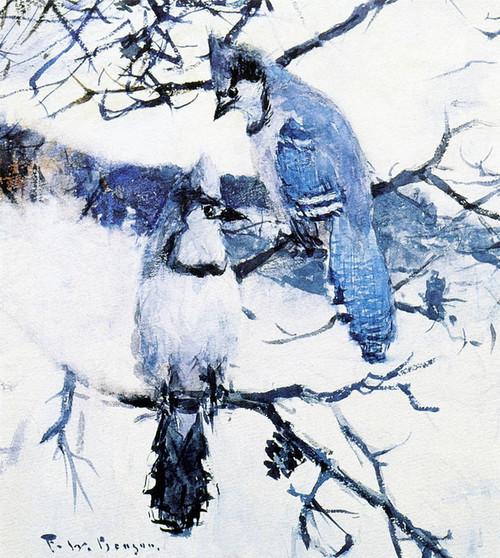 Art Prints of Blue Jays by Frank Weston Benson