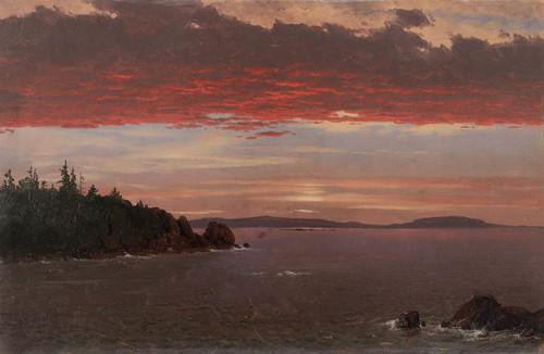 Art Prints of Schoodic Peninsula from Mt. Desert at Sunrise by Frederic Edwin Church