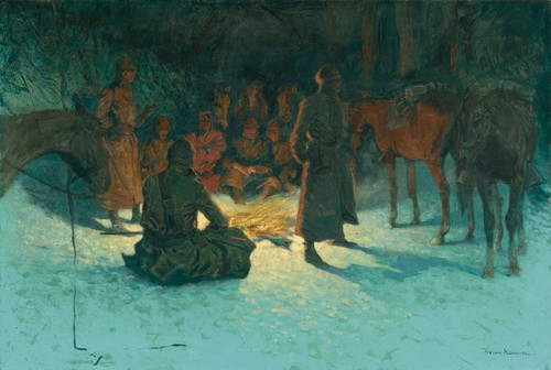 Art Prints of A Halt in the Wilderness by Frederic Remington