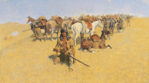 Art Prints of An Old Time Plains Fight by Frederic Remington