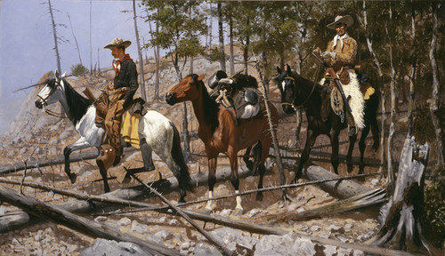 Art Prints of Prospecting for Cattle Range by Frederic Remington