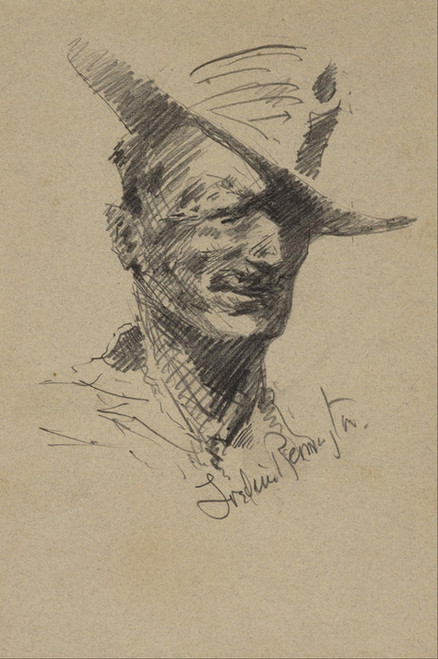 Art Prints of Self Portrait by Frederic Remington