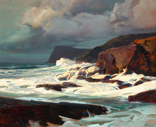 Art Prints of Morning Light on Breaking Surf by Frederick Judd Waugh