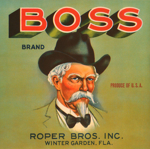 Art Prints of 025 Boss Brand, Fruit Crate Labels