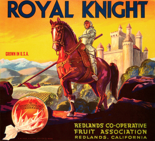 Art Prints of 035 Royal Knight, Fruit Crate Labels