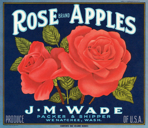 Art Prints of |Art Prints of 062 Rose Apples, Wenatchee Washington, Fruit Crate Labels