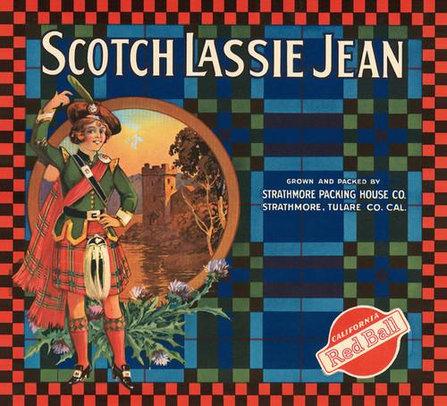 Art Prints of |Art Prints of 060 Scotch Lassie Jean, Fruit Crate Labels
