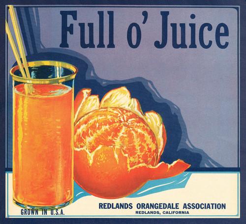 Art Prints of |Art Prints of 070 Full O' Juice, Fruit Crate Labels