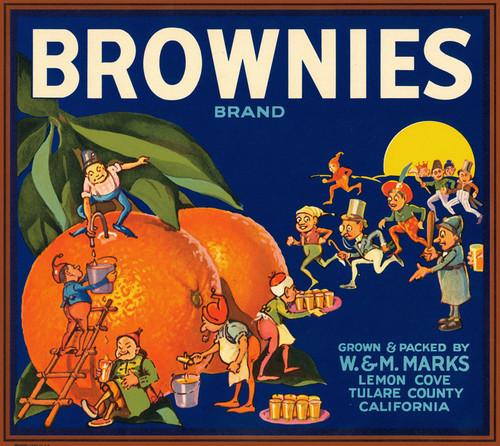 Art Prints of |Art Prints of 082 Brownies Brand, Fruit Crate Labels