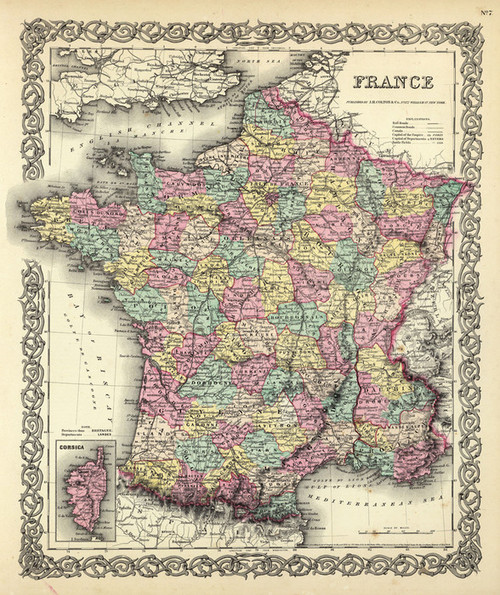 Art Prints of |Art Prints of France, 1856 (0149074) by G.W. Colton
