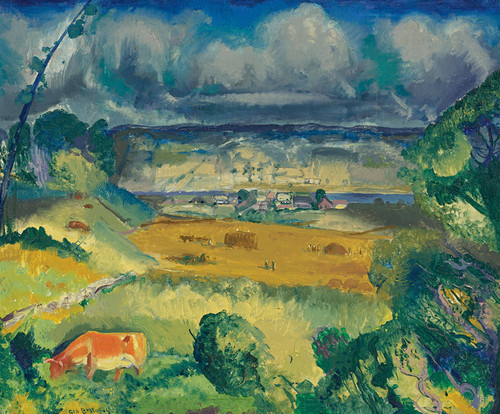 Art Prints of  Art Prints of Clouds and Meadow by George Bellows