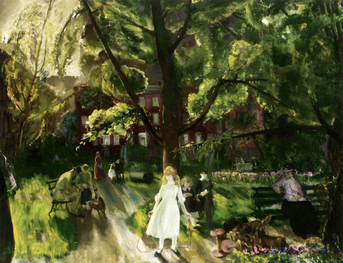 Art Prints of  Art Prints of Gramercy Park by George Bellows