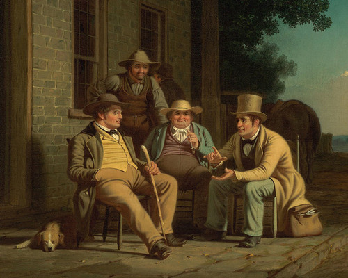 Art Prints of Canvassing for a Vote, detail by George Caleb Bingham