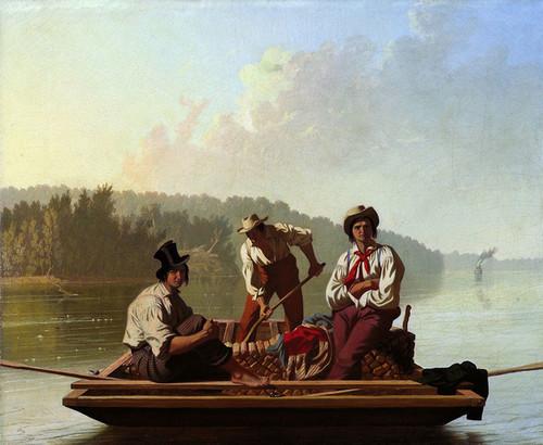 Art Prints of Boatmen on the Missouri by George Caleb Bingham