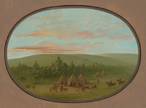 Art Prints of A Sioux Village 2 by George Catlin