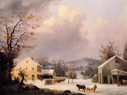 Art Prints of Jones Inn, Winter by George Henry Durrie