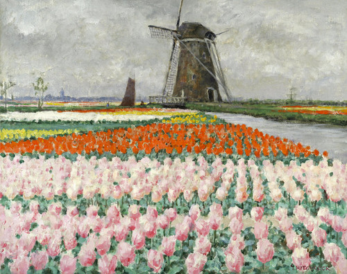 Art Prints of Pink Tulips by George Hitchcock