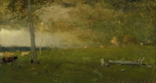 Art Prints of Cattle in a Storm by George Inness