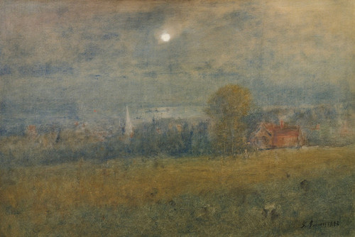 Art Prints of Moonlight in Passamaquoddy Bay by George Inness