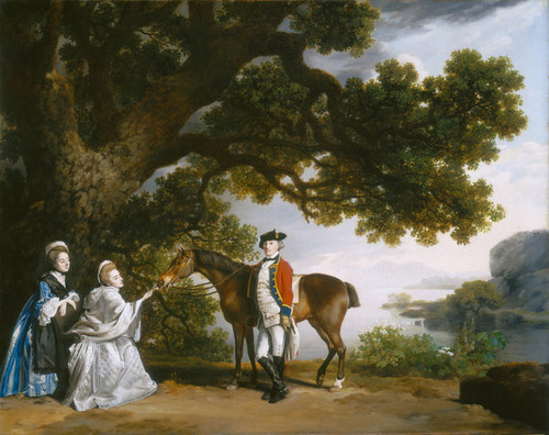 Art Prints of Captain Samuel Sharpe Pocklington with Wife Pleasance by George Stubbs