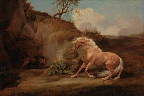 Art Prints of Horse Frightened by a Lion by George Stubbs