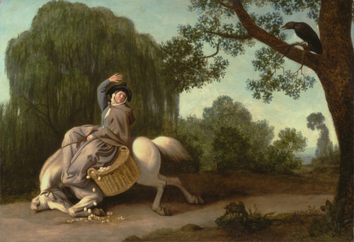 Art Prints of Farmers Wife and the Raven by George Stubbs