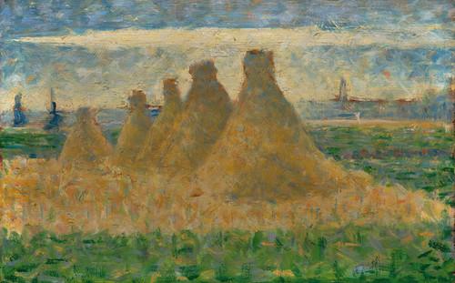 Art Prints of Haystacks, 1882 by Georges Seurat