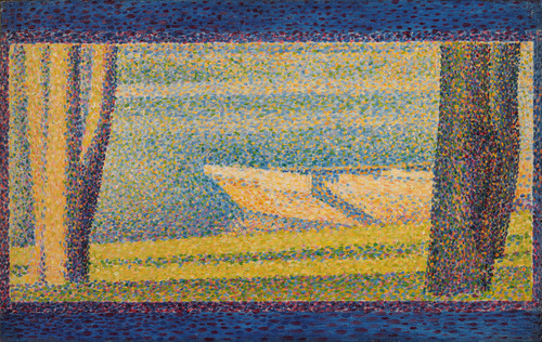 Art Prints of Moored Boats and Trees by Georges Seurat