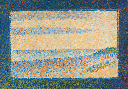 Art Prints of Seascape, 1890 by Georges Seurat