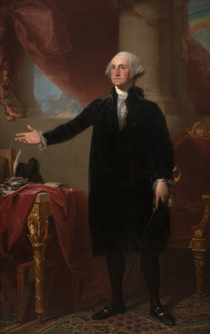 Art Prints of George Washington Lansdowne Portrait by Gilbert Stuart