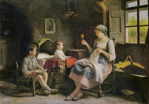 Art Prints of Amusing the Children by Giuseppe Magni
