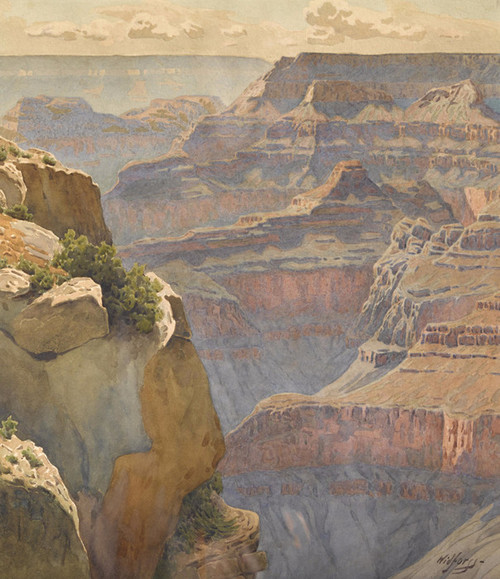 Art Prints of Hopi Point on the West Rim of the Grand Canyon by Gunnar Widforss
