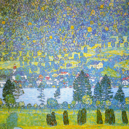 Art Prints of Mountain Slope at Unterach on the Attersee 1917 by Gustav Klimt