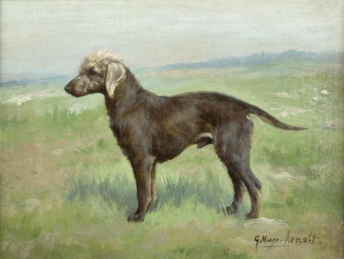 Art Prints of A Bedlington Terrier in a Landscape by Gustav Muss-Arnolt