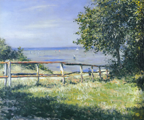 Art Prints of Seaside Field by Gustave Caillebotte