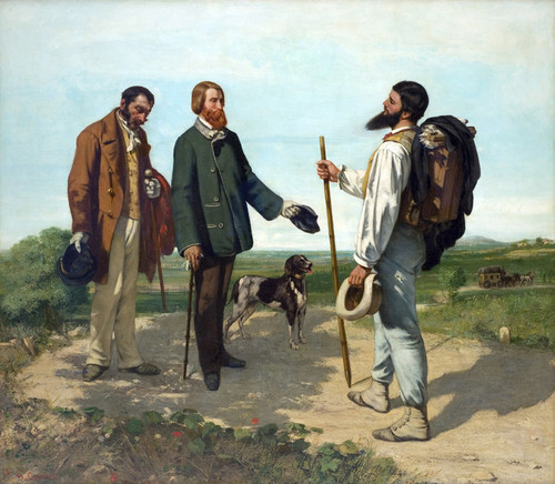 Art Prints of Bonjour Monsieur Courbet by Gustave Courbet