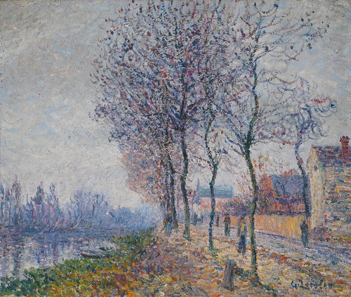 Art Prints of Pothuis Dock at Oise by Gustave Loiseau