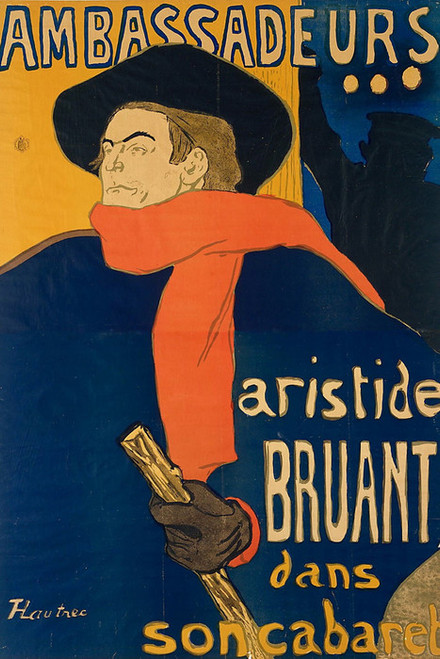 Art Prints of Ambassadeurs Aristide Bruant by Henri de Toulouse-Lautrec