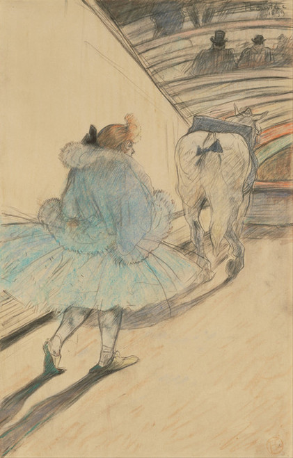 Art Prints of At the Circus Entering the Ring by Henri de Toulouse-Lautrec