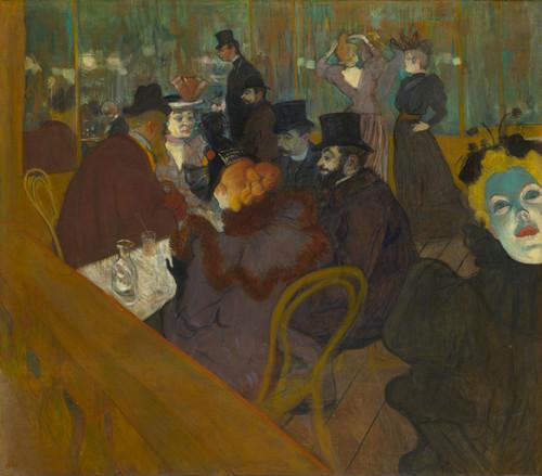 Art Prints of At the Moulin Rouge by Henri de Toulouse-Lautrec