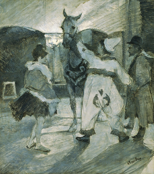 Art Prints of In the Wings at the Circus by Henri de Toulouse-Lautrec