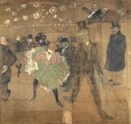 Art Prints of Panel for the Barrack of the Goulue by Henri de Toulouse-Lautrec