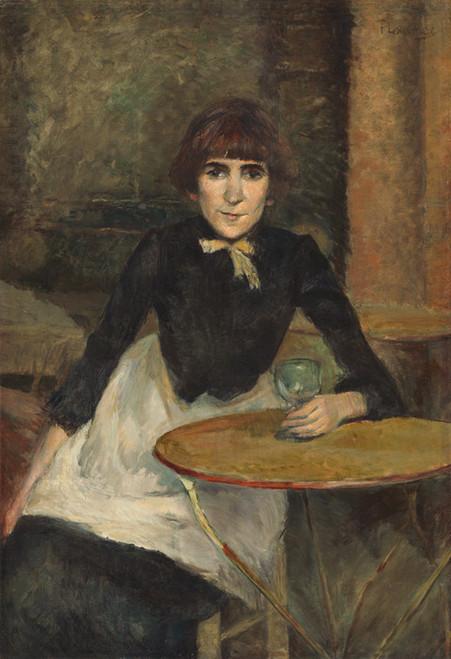 Art Prints of At the Bastille, Jeanne Wenz, 1888 by Henri de Toulouse-Lautrec