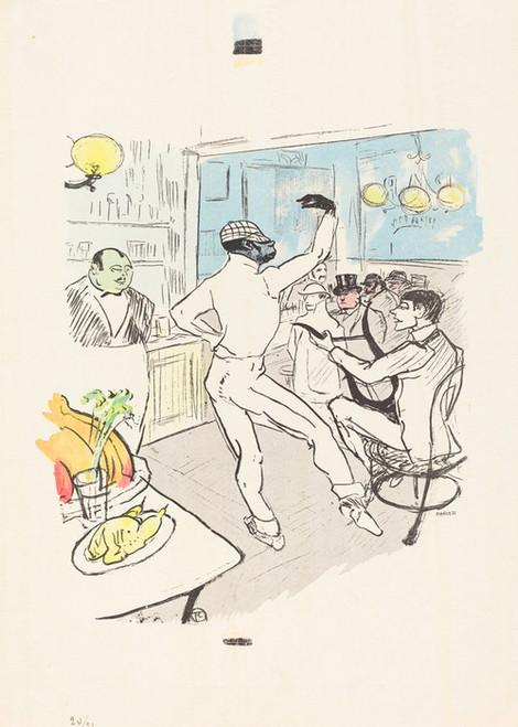 Art Prints of Dancing in the Achille Bar by Henri de Toulouse-Lautrec